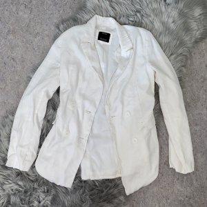 Bershka Jersey blazer wit