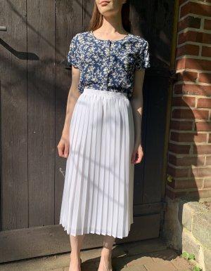 Vintage Plaid Skirt white