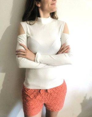 Weißer Feinripp Feinstrick Cutout Pullover von Karen by Simonsen