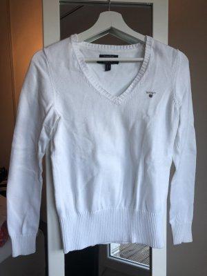 Weißer gemütlicher Gant Pullover