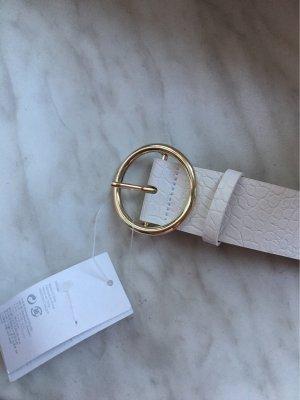 H&M Lederen riem wit