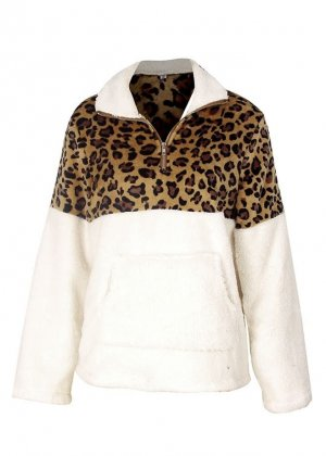 Pull polaire blanc polyester