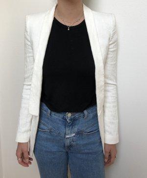 Zara Lange blazer wit-wolwit Katoen