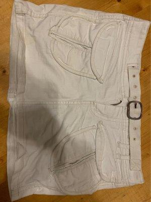 Weißer Jeans Minirock von Duesenberg