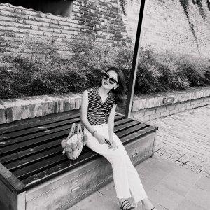 Weißer Jeanshose mit hoher Taille von Zara