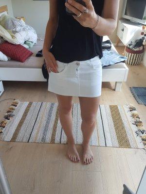 Weißer Jeansrock