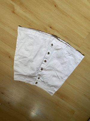H&M Denim Skirt white