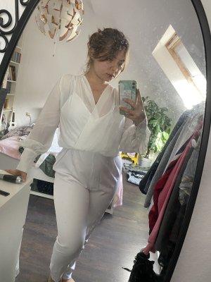 Weißer Jumpsuit