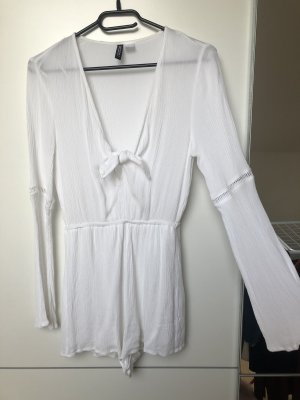 H&M Robe portefeuille blanc