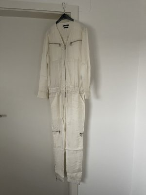 Weißer Jumpsuit von Set mit Reißverschluss