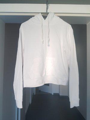 Weißer Kaputzenpullover