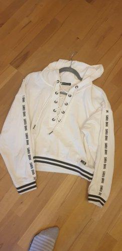 Jersey con capucha blanco-negro