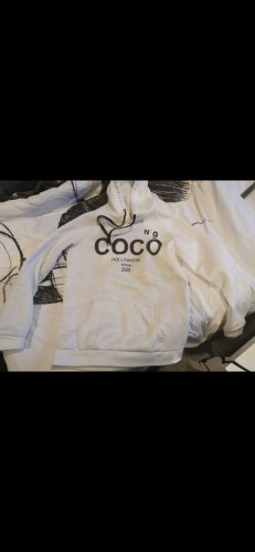 coco Capuchon sweater wit-zwart