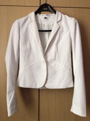 Weißer kurzgeschnittener Blazer