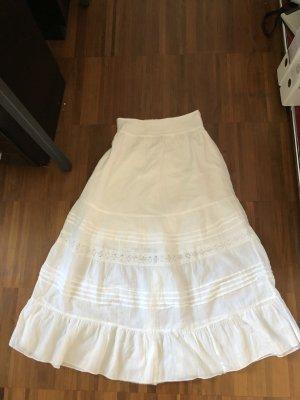 Jupe longue blanc coton