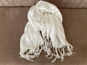 Weißer langer Schal von MAC
