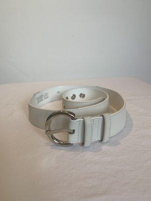 abro Cinturón de cuero blanco Cuero