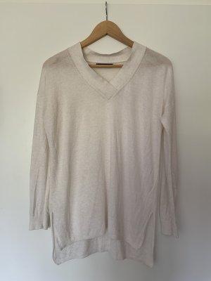 Weißer leichter Pullover von Mango