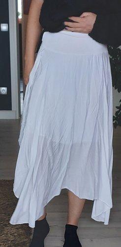 Jupe asymétrique blanc tissu mixte