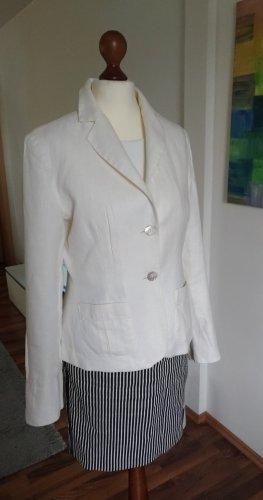 Weißer Leinen-Blazer von Zara Gr. 38