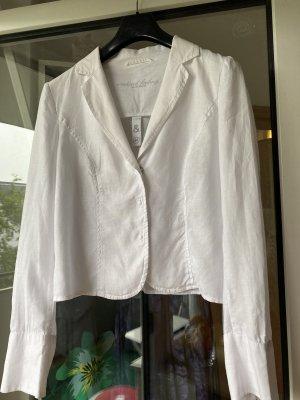 Weißer Leinenblazer für den Sommer, Größe 40