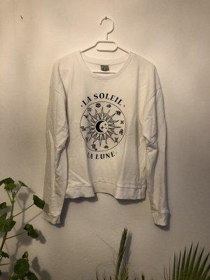 Weißer lockerer Pullover