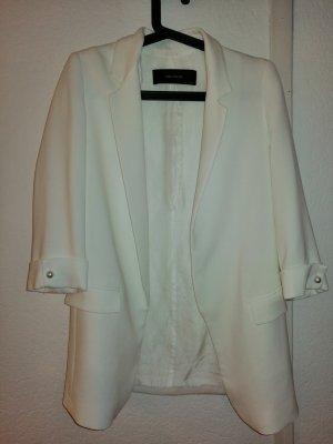 weißer Longblazer von Zara