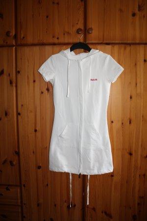 Weißer Longshirt Cardigan
