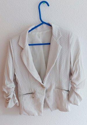 Geklede jurk wit-goud