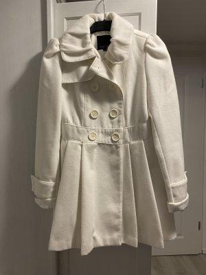 Amisu Short Coat white-natural white