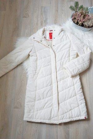 Weißer Mantel Gr. M / Weißer Übergangsmantel / weißer Steppmantel