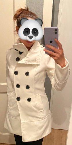 Heavy Pea Coat white