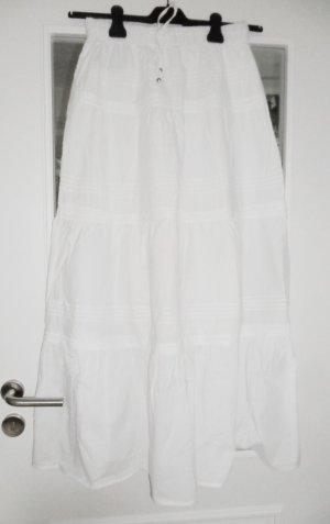 24Colours Falda larga blanco Algodón