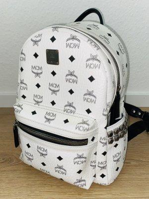 MCM Mini Backpack white-black