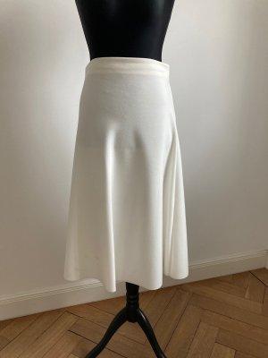 Zara Wool Skirt white polyester