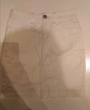 weißer Mini Jeansrock