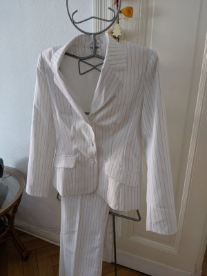 Topshop Pinstripe Suit white-blue