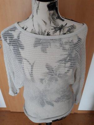Amisu Netshirt zilver-wolwit