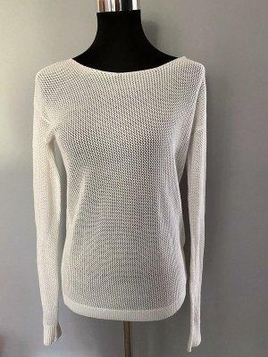 Weißer Netzpullover / Pullover, Gr. 38