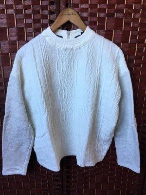 Weißer Oversize Pullover Sweater Scotch & Soda Größe P