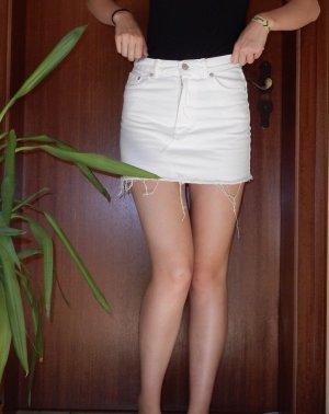 Weißer PULL&BEAR Jeans Rock
