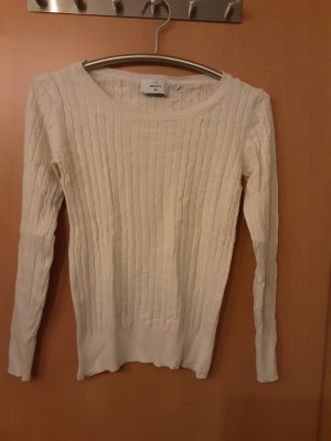 C&A Basics Kraagloze sweater wit