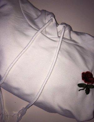 Weißer Pulli von Shein mit süßer Rose