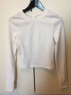H&M Camisa acanalada blanco