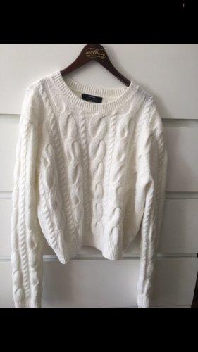 Maglione intrecciato bianco