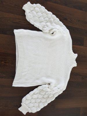 Wełniany sweter biały