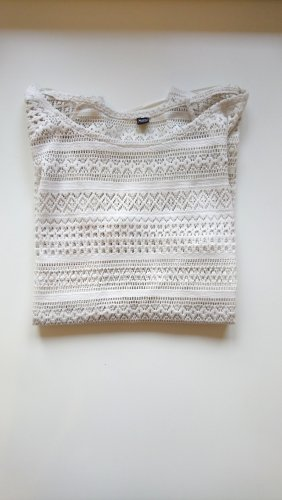 Pimkie Top en maille crochet blanc