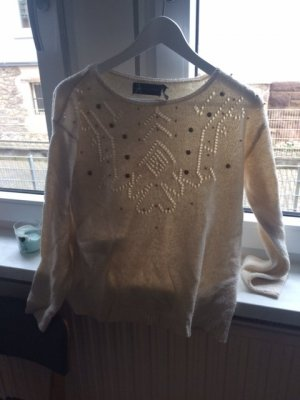 Athmosphere Fine Knit Jumper pale yellow-white