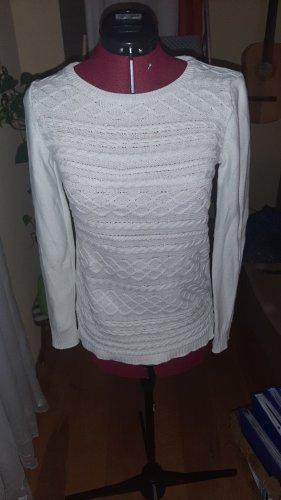 HM Jersey trenzado blanco Algodón