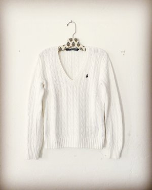 Ralph Lauren Pull tricoté blanc